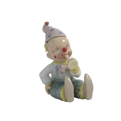 CLOWN MUSICIAN PINK FIGURINES