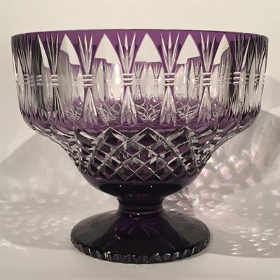 CRYSTAL FOOTED BOWL ANTIQUES