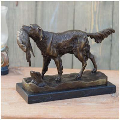HUNTING DOGS BRONZE SCULPTURES