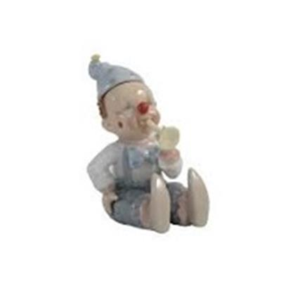 CLOWN MUSICIAN BLUE FIGURINES