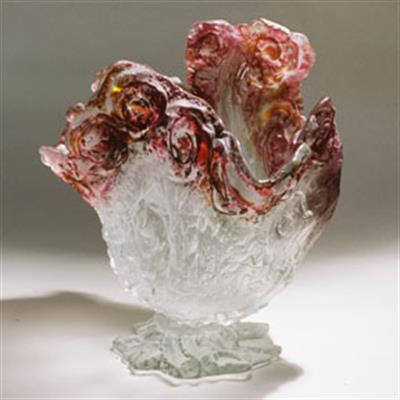 ROSE VESSEL GLASS ARTEFACTS